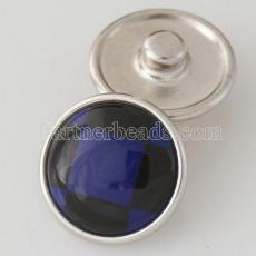 18MM snap blue shell KB2801-AI interchangable snaps jewelry