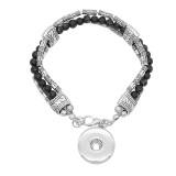 Boutons 1 Avec bouton-pression ajustable Bracelet en pierre naturelle ajustement s'emboite bijoux KC0862