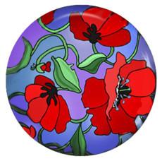 Fleur de 20MM en métal peint C5501 imprimé s'enclenche des bijoux