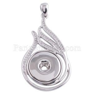 Colgante de collar con diamantes de imitación en forma 18 / 20mm broches de joyería de estilo KC0367