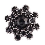 16MM snaps chunks with black rhinestone   interchangeable jewelry