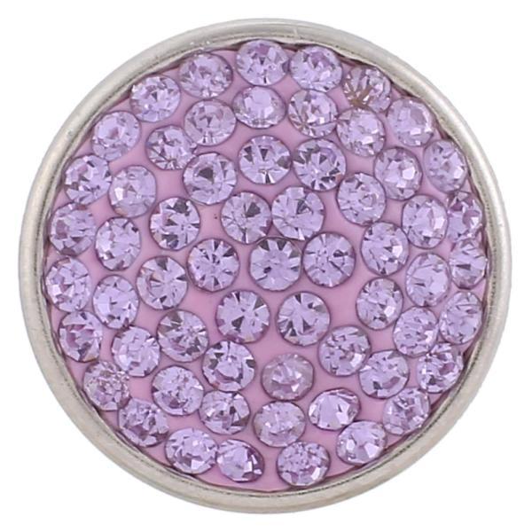 18mm Sugar snaps Сплав с фиолетовыми стразами KB2322 оснастки ювелирные изделия