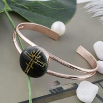 20MM cross Painted enamel metal C5122 print snaps jewelry