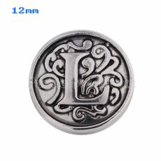 12mm L Antique snaps Silver Plated KS5014-S snap jewelry