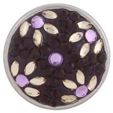 18mm фиолетовый Sugar snaps Сплав со стразами KB2408-AF оснастки ювелирные изделия