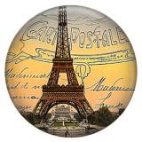 20MM Eiffel Tower Painted enamel metal C5142 print snaps jewelry