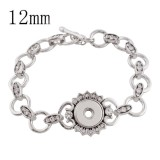 20CM 1 buttons snaps metal Bracelets KS1127-S fit 12MM snaps chunks