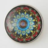 20MM оснастка разноцветное стекло Декоративный рисунок KB2862-N сменные защелки ювелирные изделия