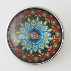 20MM Snap buntes Glas Dekoratives Muster KB2862-N austauschbare Snaps Schmuck