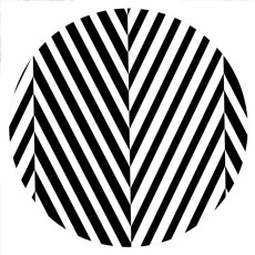 20MM Painted Stripes enamel metal C5797 print black