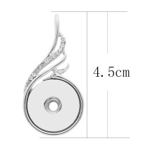 snap sliver Pendant with  fit 20MM snaps style jewelry KC0461
