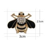 30MM Bee Snap vergoldet mit Strass und Emaille KC9850 Snaps Schmuck