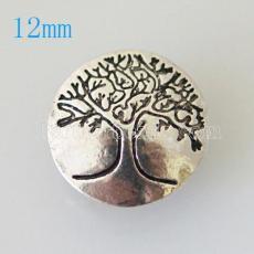 12mm snap tree plaqué argent KB6653-S snap bijoux