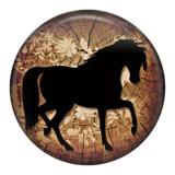Лошадь 20MM Роспись эмалью по металлу C5550 с принтом защелок ювелирных изделий
