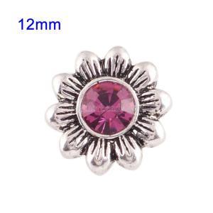 Broches 12mm de tamaño pequeño con diamantes de imitación rosas para joyas en trozos
