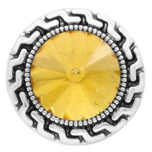 20MM оснастка ноябрь. Камень желтый KC6584, сменные защелки, украшения