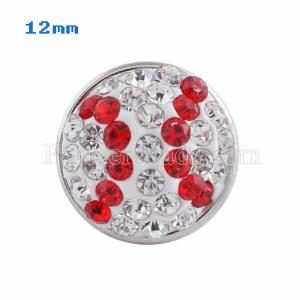 Small size snaps Style chunks with white and red rhinestone