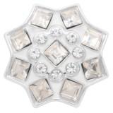 Diseño 20MM chapado en plata con diamantes de imitación blancos KC7905 broches de joyería