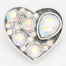 20MM snap Love sliver Plaqué de strass colorés KC6730 s'encliquette des bijoux