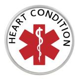 20MM Medical Alert Schnappglas für Herzleiden C1121 austauschbar rot