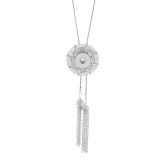 Pendant Rhinestone Necklace with 80CM chain KC1016 fit  chunks snaps jewelry