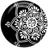 20MM flor Pintado esmalte metal C5196 estampado broches joyería