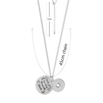 Pendant Necklace with 45CM chain KC0998 fit 18mm chunks snaps jewelry