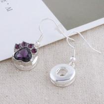 Las garras para perros 12MM se rompen con joyas de broches intercambiables de diamantes de imitación púrpura oscuro KS5183-S