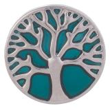 20MM Snap Tree Silver Plated avec émail bleu KB6215 snaps bijoux