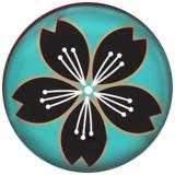 20MM flor Pintado esmalte metal C5197 estampado broches joyería