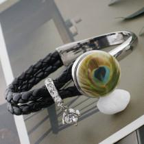 20MM plume en métal peint émail peint C5283 impression s'enclenche les bijoux