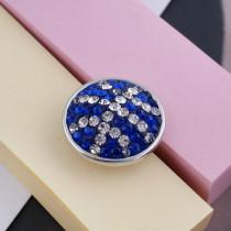 18mm Sugar Snaps Alliage avec strass bleus KB2419 Snaps bijoux