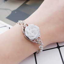 18MM Flower snap Alliage résine blanche KB2269 interchangeable snaps bijoux