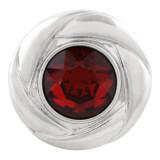 20MM snap Jan. birthstone rojo oscuro KC5676 broches intercambiables joyería