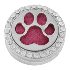 22mm white alloy Dog claws Aromatherapy/Essential Oil Diffuser Perfume Locket snap with 1pc 15mm discs as gift