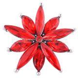 20MM design snap silver Plaqué de strass rouges KC8955 s'encliquette des bijoux