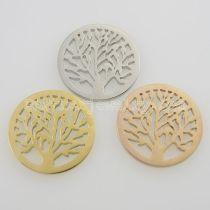 Les breloques en acier inoxydable 25MM conviennent aux bijoux taille arbre
