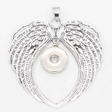 snap sliver Pendant with  fit 20MM snaps style jewelry KC0434