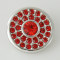20MM Round snap Antique Silver Plated with red rhinestone KB5099 snaps jewelry