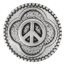 20MM peace snap button Antique Silver Plated KC5531 snap jewelry