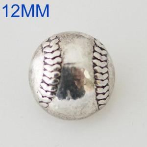 12mm baseball s'enclenche Silver KB6588-S snap bijoux