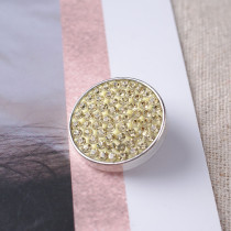 20mm snaps light yellow Rhinestones Chunks Poppers With High Quality Bottom
