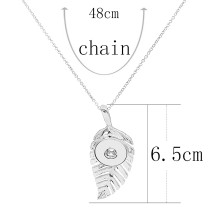 Pendant sliver Necklace with 46CM chain KC1090 snaps jewelry