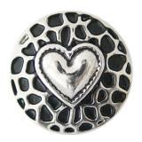 20MM loveheart s'enclenche avec Silver Platedl KB7076 s'encliquette des bijoux
