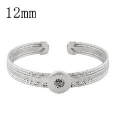 1 buttons snap sliver bracelet fit 12MM snaps jewelry KS1222-S