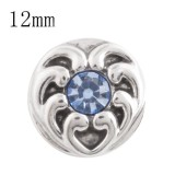 12MM love heart snap con diamantes de imitación azules KS5154-S joyería de broches intercambiables