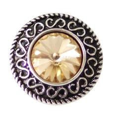20MM enfonce des morceaux avec des bijoux interchangeables en strass jaune