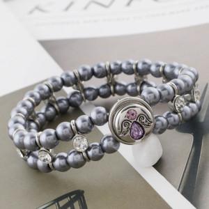 12MM broche de ala plateado con diamantes de imitación púrpura KS5242-S broches de joyería
