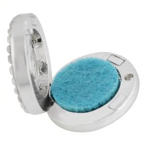 22mm weiße Legierung Delfin Aromatherapie / Ätherisches Öl Diffusor Parfüm Medaillon Snap mit 1pc 15mm Scheiben als Geschenk