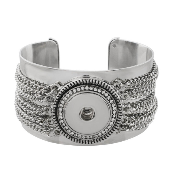 verstellbares Armband mit Schnappverschluss und Strass-Passform für 18- und 20MM-Schnappverschlüsse